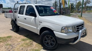 2004 Ford Courier PH GL (4x4) White 5 Speed Manual Crew Cab Pickup.