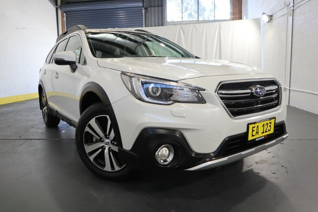 Used Subaru Outback B6A MY19 2.5i CVT AWD Premium Castle Hill, 2019 Subaru Outback B6A MY19 2.5i CVT AWD Premium Crystal White Pearl 7 Speed Constant Variable