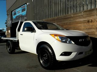 2013 Mazda BT-50 UP0YD1 XT 4x2 White 6 Speed Manual Cab Chassis.