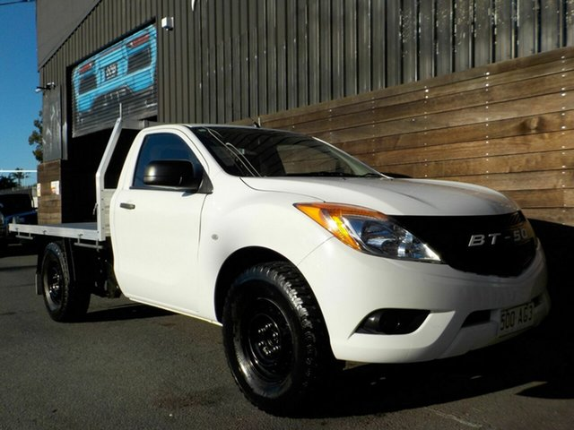 Used Mazda BT-50 UP0YD1 XT 4x2 Labrador, 2013 Mazda BT-50 UP0YD1 XT 4x2 White 6 Speed Manual Cab Chassis