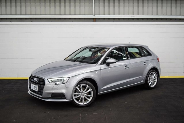 Used Audi A3 8V MY16 Attraction Sportback S Tronic Canning Vale, 2016 Audi A3 8V MY16 Attraction Sportback S Tronic Silver 7 Speed Sports Automatic Dual Clutch