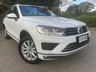 2016 Volkswagen Touareg 7P MY16 150TDI Tiptronic 4MOTION White 8 Speed Sports Automatic Wagon.