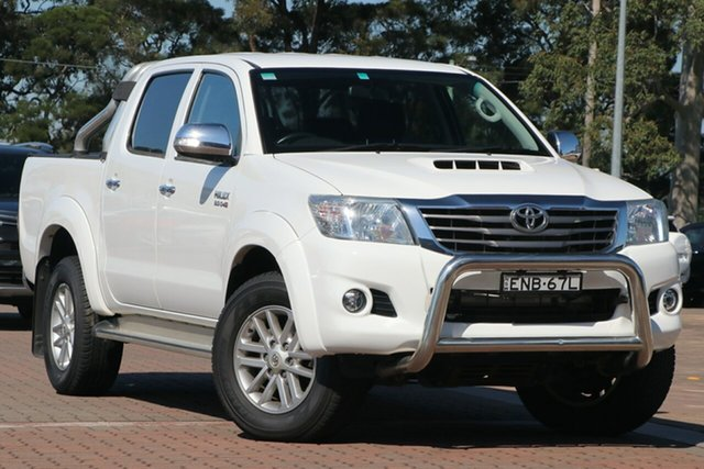 Pre-Owned Toyota Hilux KUN26R MY14 SR5 Double Cab Warwick Farm, 2014 Toyota Hilux KUN26R MY14 SR5 Double Cab White 5 Speed Manual Utility