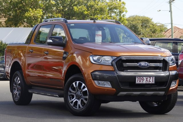 Used Ford Ranger PX MkII Wildtrak Double Cab Mount Gravatt, 2017 Ford Ranger PX MkII Wildtrak Double Cab Orange 6 Speed Sports Automatic Utility
