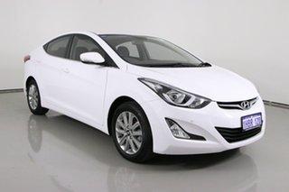 2014 Hyundai Elantra MD Series 2 (MD3) Trophy White 6 Speed Automatic Sedan.