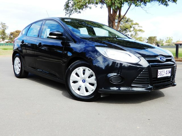 Used Ford Focus LW MkII Ambiente Glenelg, 2013 Ford Focus LW MkII Ambiente Black/Grey 5 Speed Manual Hatchback