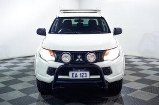 2016 Mitsubishi Triton MQ MY16 GLX+ Double Cab White 6 Speed Manual Utility.