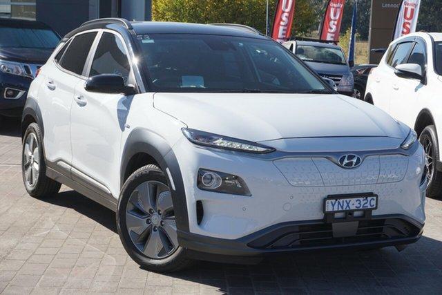 Used Hyundai Kona OS.3 MY19 electric Highlander Phillip, 2019 Hyundai Kona OS.3 MY19 electric Highlander White 1 Speed Reduction Gear Wagon