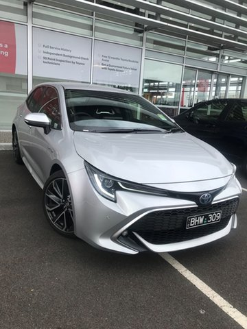Pre-Owned Toyota Corolla ZWE211R ZR E-CVT Hybrid South Morang, 2020 Toyota Corolla ZWE211R ZR E-CVT Hybrid Silver Pearl 10 Speed Constant Variable Hatchback Hybrid