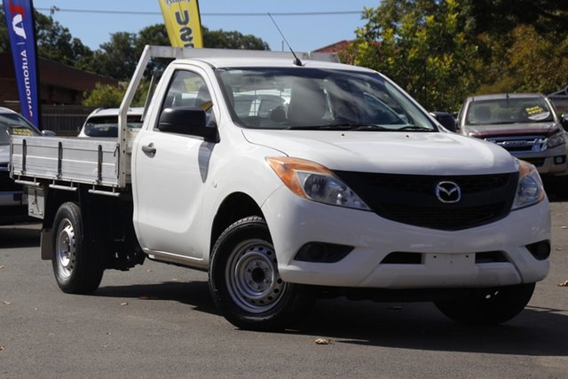 Used Mazda BT-50 UP0YD1 XT 4x2 Toowoomba, 2012 Mazda BT-50 UP0YD1 XT 4x2 White 6 Speed Manual Cab Chassis