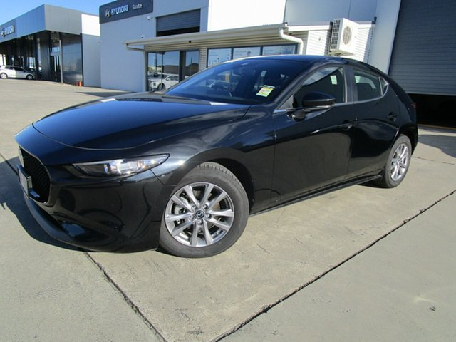 Used Mazda 3 BP2H7A G20 SKYACTIV-Drive Pure Caboolture, 2020 Mazda 3 BP2H7A G20 SKYACTIV-Drive Pure Black 6 Speed Sports Automatic Hatchback