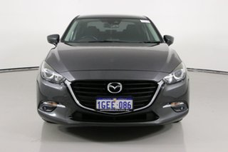 2016 Mazda 3 BN MY17 Maxx Grey 6 Speed Automatic Sedan.