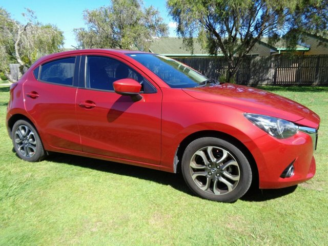 Used Mazda 2 DJ2HAA Genki SKYACTIV-Drive Kippa-Ring, 2015 Mazda 2 DJ2HAA Genki SKYACTIV-Drive Red 6 Speed Sports Automatic Hatchback