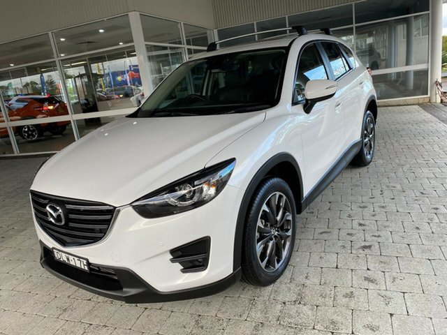 Used Mazda CX-5 Grand Touring Taree, 2017 Mazda CX-5 Grand Touring Crystal White Pearl Sports Automatic Wagon