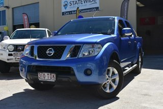2013 Nissan Navara D40 MY12 ST (4x4) Blue 5 Speed Automatic Dual Cab Pick-up.