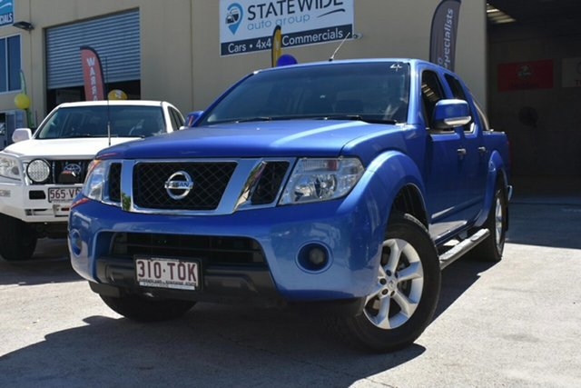 Used Nissan Navara D40 MY12 ST (4x4) Capalaba, 2013 Nissan Navara D40 MY12 ST (4x4) Blue 5 Speed Automatic Dual Cab Pick-up
