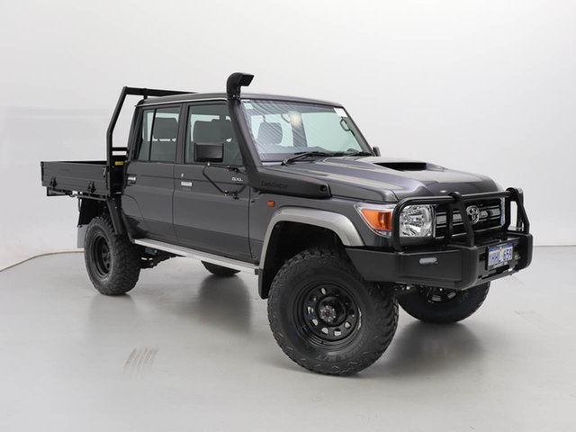Used Toyota Landcruiser 70 Series VDJ79R GXL, 2021 Toyota Landcruiser 70 Series VDJ79R GXL Graphite 5 Speed Manual Double Cab Chassis