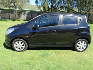 2010 Holden Barina Spark MJ MY11 CD Black 5 Speed Manual Hatchback