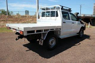 2014 Toyota Hilux KUN26R MY14 SR Double Cab Glacier White 5 Speed Manual Utility