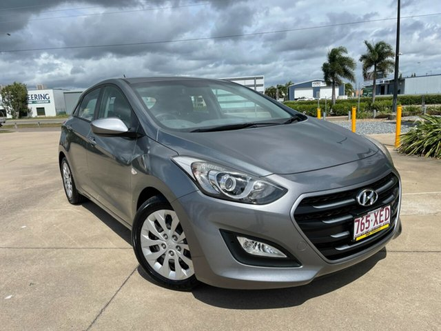 Used Hyundai i30 GD4 Series II MY17 Active Townsville, 2016 Hyundai i30 GD4 Series II MY17 Active Grey/260417 6 Speed Sports Automatic Hatchback