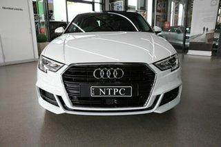 2019 Audi A3 8V MY20 35 TFSI S Tronic S Line Plus White 7 Speed Sports Automatic Dual Clutch Sedan