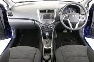 2016 Hyundai Accent RB3 MY16 Active Blue 6 Speed CVT Auto Sequential Hatchback