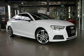 2019 Audi A3 8V MY20 35 TFSI S Tronic S Line Plus White 7 Speed Sports Automatic Dual Clutch Sedan.