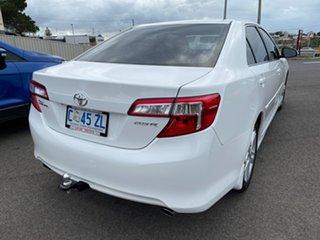 2012 Toyota Camry ASV50R Atara S White 6 Speed Sports Automatic Sedan.