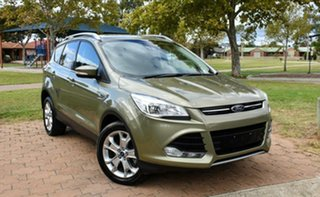 2013 Ford Kuga TF Trend PwrShift AWD Green 6 Speed Sports Automatic Dual Clutch Wagon.