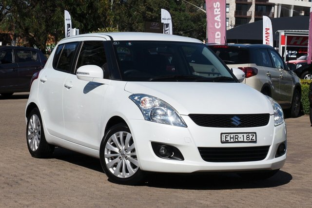 Used Suzuki Swift FZ GLX Rosebery, 2013 Suzuki Swift FZ GLX White 5 Speed Manual Hatchback