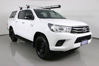 2016 Toyota Hilux GUN126R SR (4x4) White 6 Speed Automatic Dual Cab Utility.