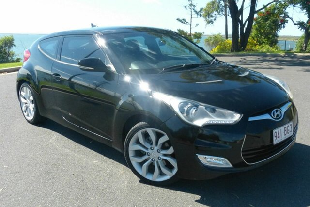 Used Hyundai Veloster FS Coupe Gladstone, 2011 Hyundai Veloster FS Coupe Black 6 Speed Manual Hatchback
