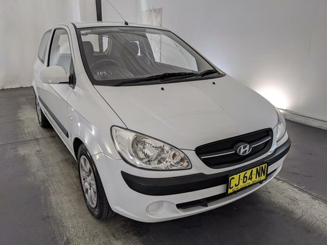 Used Hyundai Getz TB MY07 SX Maryville, 2008 Hyundai Getz TB MY07 SX White 5 Speed Manual Hatchback