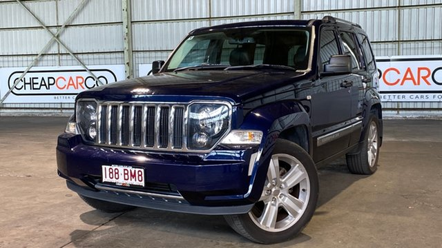 Used Jeep Cherokee KK MY12 JET Rocklea, 2012 Jeep Cherokee KK MY12 JET Blue 4 Speed Automatic Wagon