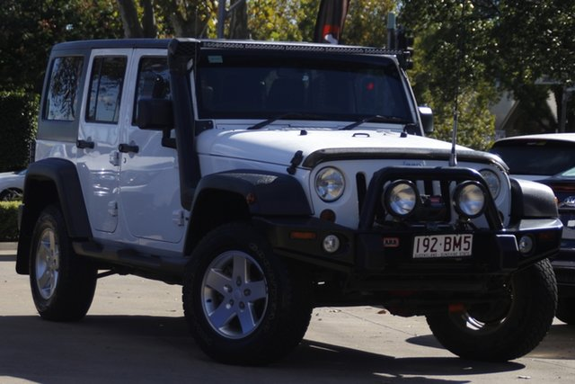 Used Jeep Wrangler JK MY2013 Unlimited Sport Toowoomba, 2013 Jeep Wrangler JK MY2013 Unlimited Sport White 5 Speed Automatic Softtop
