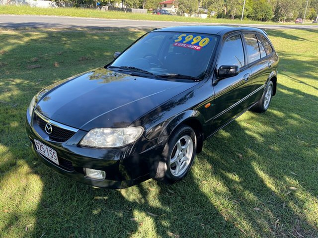Used Mazda 323 BJ II-J48 Astina Clontarf, 2003 Mazda 323 BJ II-J48 Astina Black 4 Speed Automatic Hatchback