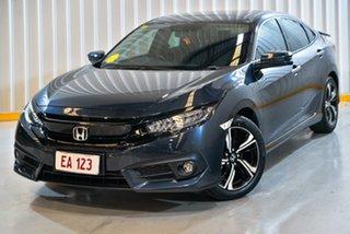 2017 Honda Civic 10th Gen MY16 RS Blue 1 Speed Constant Variable Sedan.