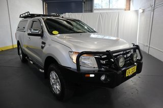 2014 Ford Ranger PX XLT Super Cab 4x2 Hi-Rider Silver 6 Speed Sports Automatic Utility.