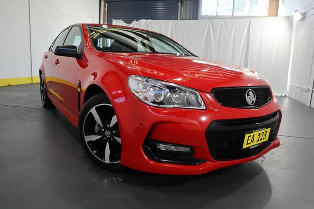 Used Holden Commodore VF II MY16 SV6 Black Castle Hill, 2016 Holden Commodore VF II MY16 SV6 Black Red 6 Speed Sports Automatic Sedan