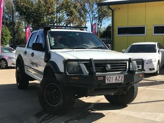 2003 Holden Rodeo RA LX Crew Cab White 5 Speed Manual Utility.