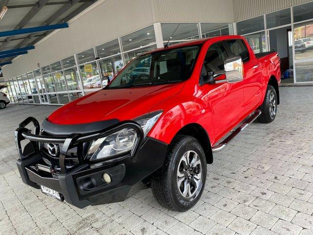 Used Mazda BT-50 XTR Taree, 2017 Mazda BT-50 XTR Red Sports Automatic Dual Cab Utility