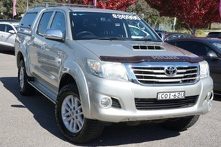 2013 Toyota Hilux KUN26R MY12 SR5 Double Cab Silver 5 Speed Manual Utility.