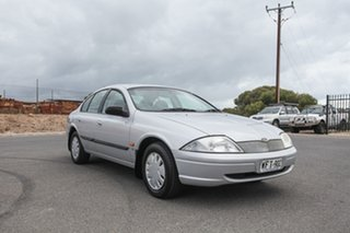 1998 Ford Falcon AU Forte Silver 4 Speed Automatic Sedan.