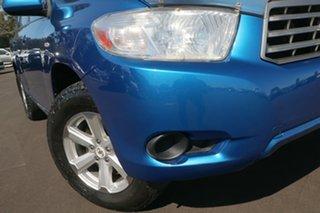 2008 Toyota Kluger GSU45R KX-R AWD Blue 5 Speed Sports Automatic SUV.