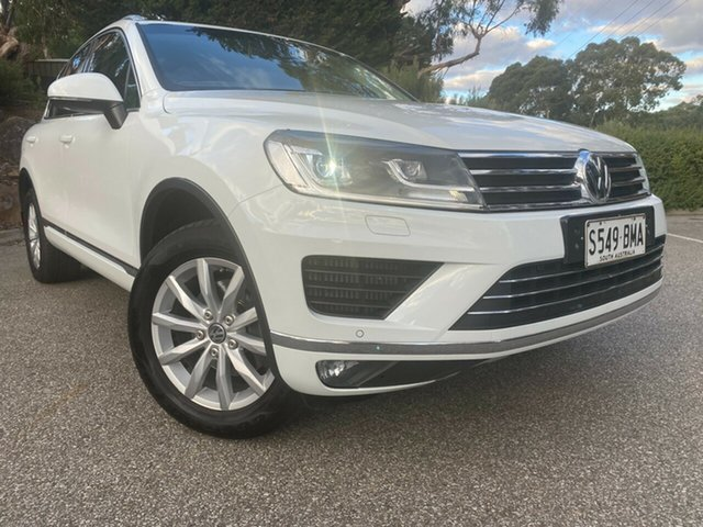Used Volkswagen Touareg 7P MY16 150TDI Tiptronic 4MOTION Totness, 2016 Volkswagen Touareg 7P MY16 150TDI Tiptronic 4MOTION White 8 Speed Sports Automatic Wagon