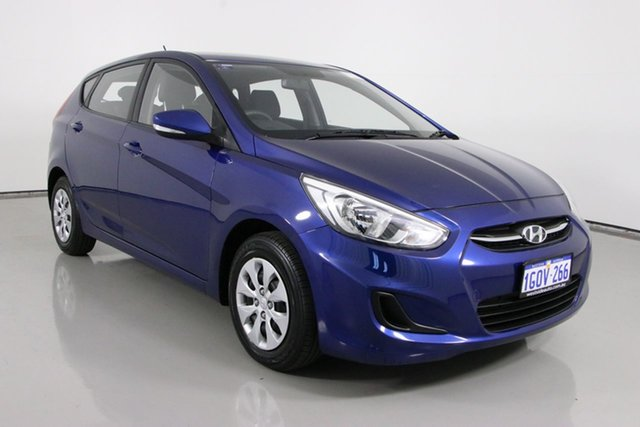 Used Hyundai Accent RB3 MY16 Active Bentley, 2016 Hyundai Accent RB3 MY16 Active Blue 6 Speed CVT Auto Sequential Hatchback