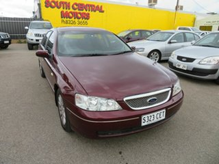 2004 Ford Fairmont BA MkII Red 4 Speed Auto Seq Sportshift Sedan.