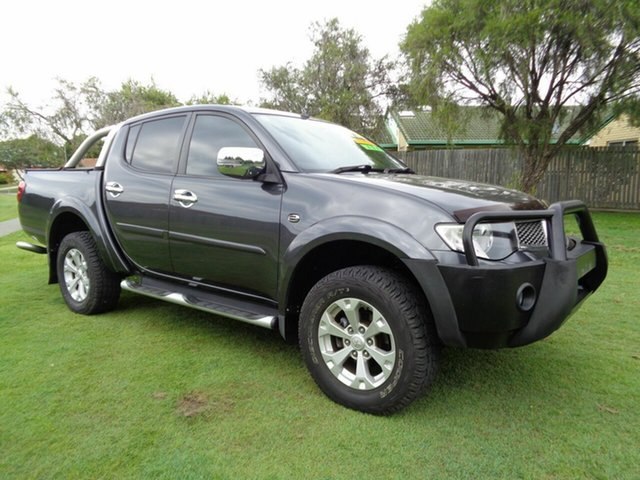 Used Mitsubishi Triton MN MY15 GLX-R Double Cab Kippa-Ring, 2015 Mitsubishi Triton MN MY15 GLX-R Double Cab Grey 5 Speed Sports Automatic Utility