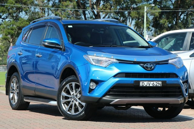Pre-Owned Toyota RAV4 ASA44R Cruiser AWD Warwick Farm, 2016 Toyota RAV4 ASA44R Cruiser AWD Blue 6 Speed Sports Automatic SUV