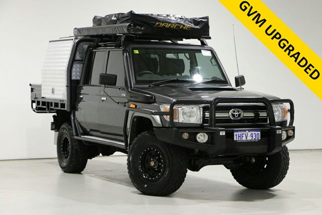 Used Toyota Landcruiser VDJ79R MY12 Update GXL (4x4) Bentley, 2016 Toyota Landcruiser VDJ79R MY12 Update GXL (4x4) Graphite 5 Speed Manual Double Cab Chassis